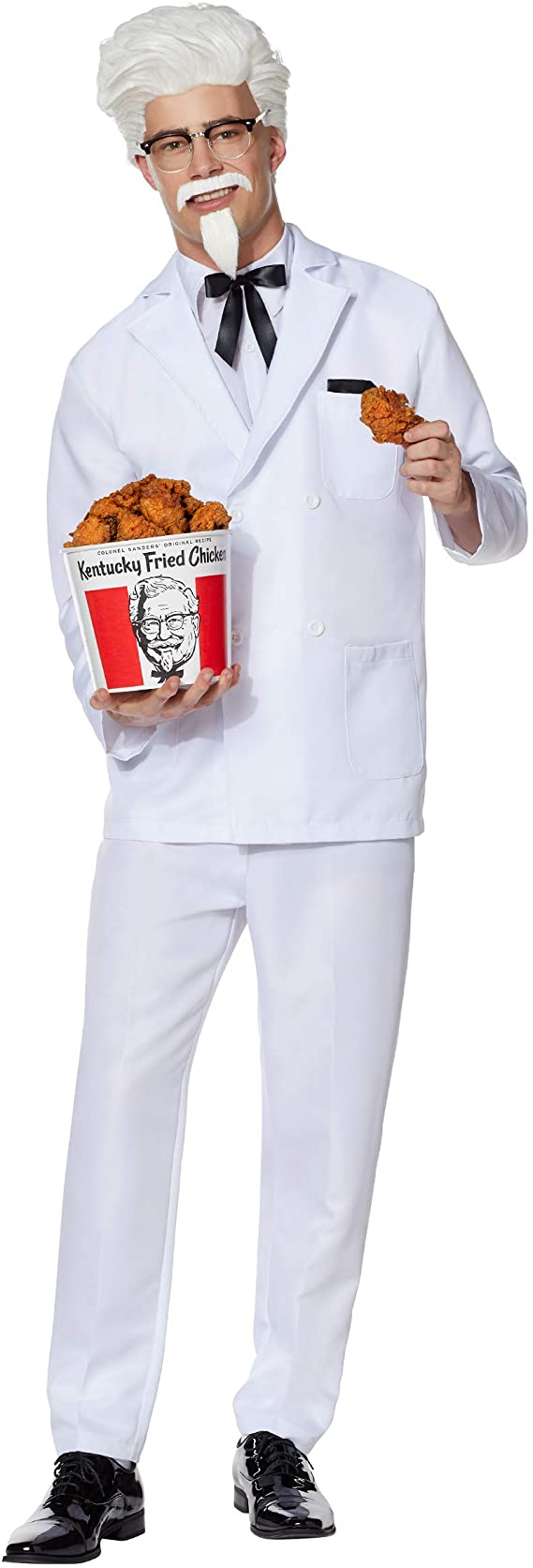 Victorian Men's Costumes: Mad Hatter, Rhet Butler, Willy Wonka Spirit Halloween KFC Colonel Sanders Costume for Adults | Officially Licensed $49.99 AT vintagedancer.com