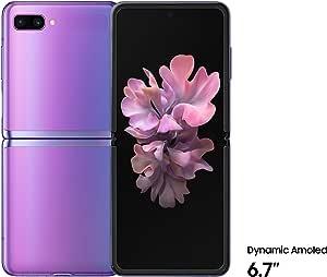 Samsung SM-F700FZPDXSG Galaxy Z Flip, 8GB RAM, 256GB, UAE Version - Purple Mirror