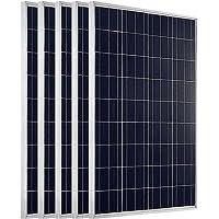 ECO-WORTHY - Panel solar policristalino y fotovoltaico, 100W 100W, 12V, carga mediante batería