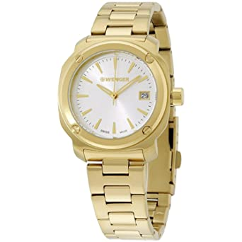 Wenger Edge Index Silver Dial Stainless Steel Ladies Watch 01 1121 107