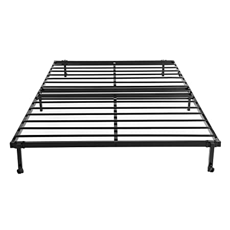 EGGREE 4FT6 Double Folding Bed Frame Metal Bed Base with Lockable ...