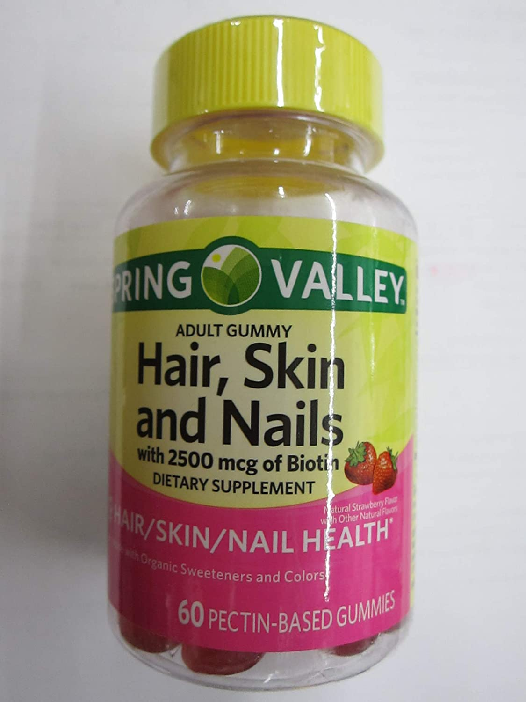 Amazon Com Spring Valley Adult Hair Skin Nails 2500 Mcg