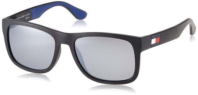 Tommy Hilfiger TH 1556/S Gafas de sol, Azul (BLK BLUE), 56 ...