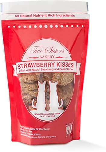 Two Sisters Bakery Strawberry Kisses Dog Cookies 1 Pouch , 10 Oz