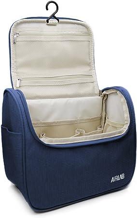 Kulturbeutel zum Aufhängen, Airlab Kulturtasche mit Tragegriff und Haken, Größe: 24 x 19,5 x 12,5cm, Blau