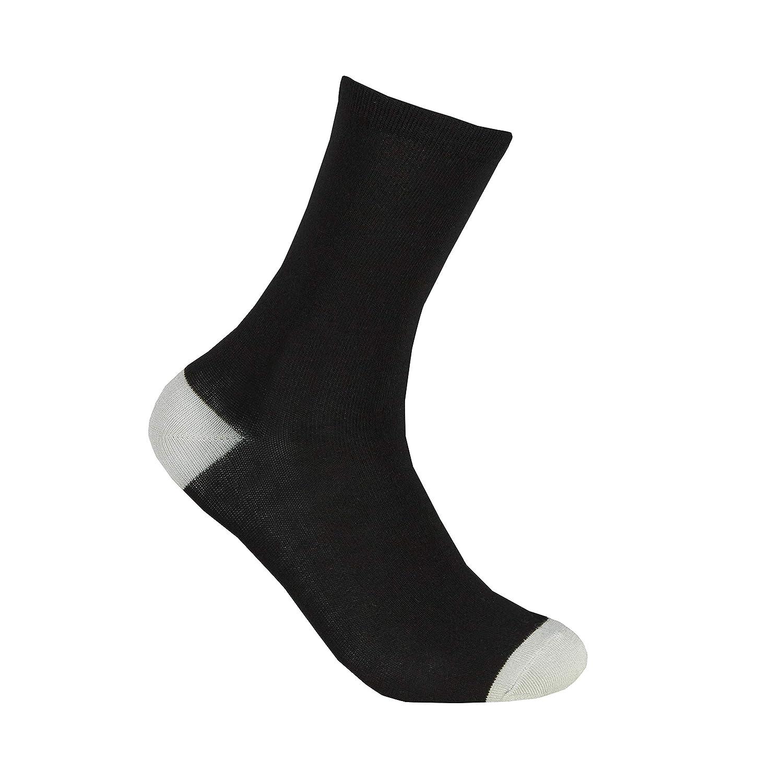 TOP SOX Lot de 6 paires de chaussettes assorties en bambou pour femme
