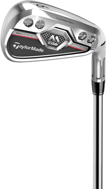 TaylorMade Golf M CGBアイアン8本セット (男性用、右利き、シャフト: スチール、フレックス: R、セット内容: 4I,5I,6I,7I,8I,9I,PW,AW) N6325907 141[並行輸入]