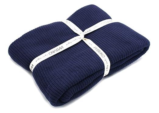 Amazon.com  100% Organic Cotton Knit Throw Blanket with Tassels ... a45f7b172