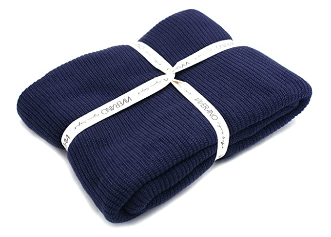 100% Organic Cotton Knit Throw Blanket with Tassels, Soft Pure Warm  Lightweight Non- 278b4ff0aae
