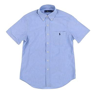 a0f3b17d RALPH LAUREN Mens Short Sleeve Pocket Oxford Button Up Shirt