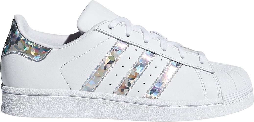 adidas Superstar, Chaussures de Basketball Femme Blanc.g0 (38 EU, White -  Silver Iris)