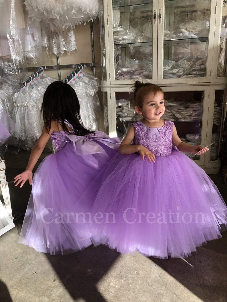 Mini Bride Flower Girl Dress LavenderLilac
