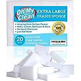 (20 Pack) Extra Large Eraser Sponge - Extra Thick, Long Lasting, Premium Melamine Sponges in Bulk - Multi Surface Power Scrub