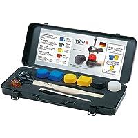 Wiha Safety Schonhammer Set / 8-tlg. Hammer Set mit austauschbaren Schlagköpfen in den Kombinationshärtegraden 1 - 7 / Kunststoffhammer Set, Gewicht 2371 g, Abmessungen 40,8 x 17 x 5,6 cm