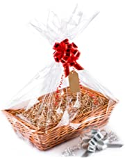 woodluv 1 x Create Your Own Wicker Gift Hamper Basket Kit Use, Christening, Wedding, Baby Shower or Birthday Gift