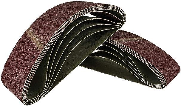 Bandas de lija 10 unidades, 75 x 457 mm, grano 180