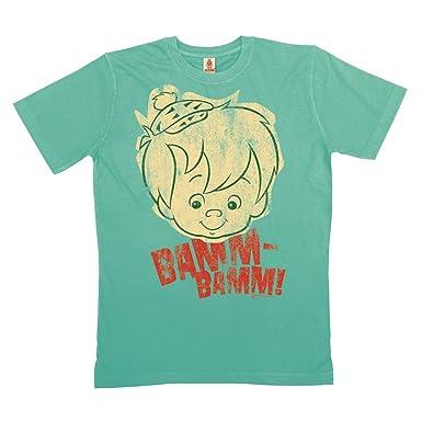 Logoshirt Los Picapiedra - Bam-Bam Cara Camiseta 100% algodón ecológico (cultivo ecológico) - Azul Claro, talla XXL: Amazon.es: Ropa y accesorios
