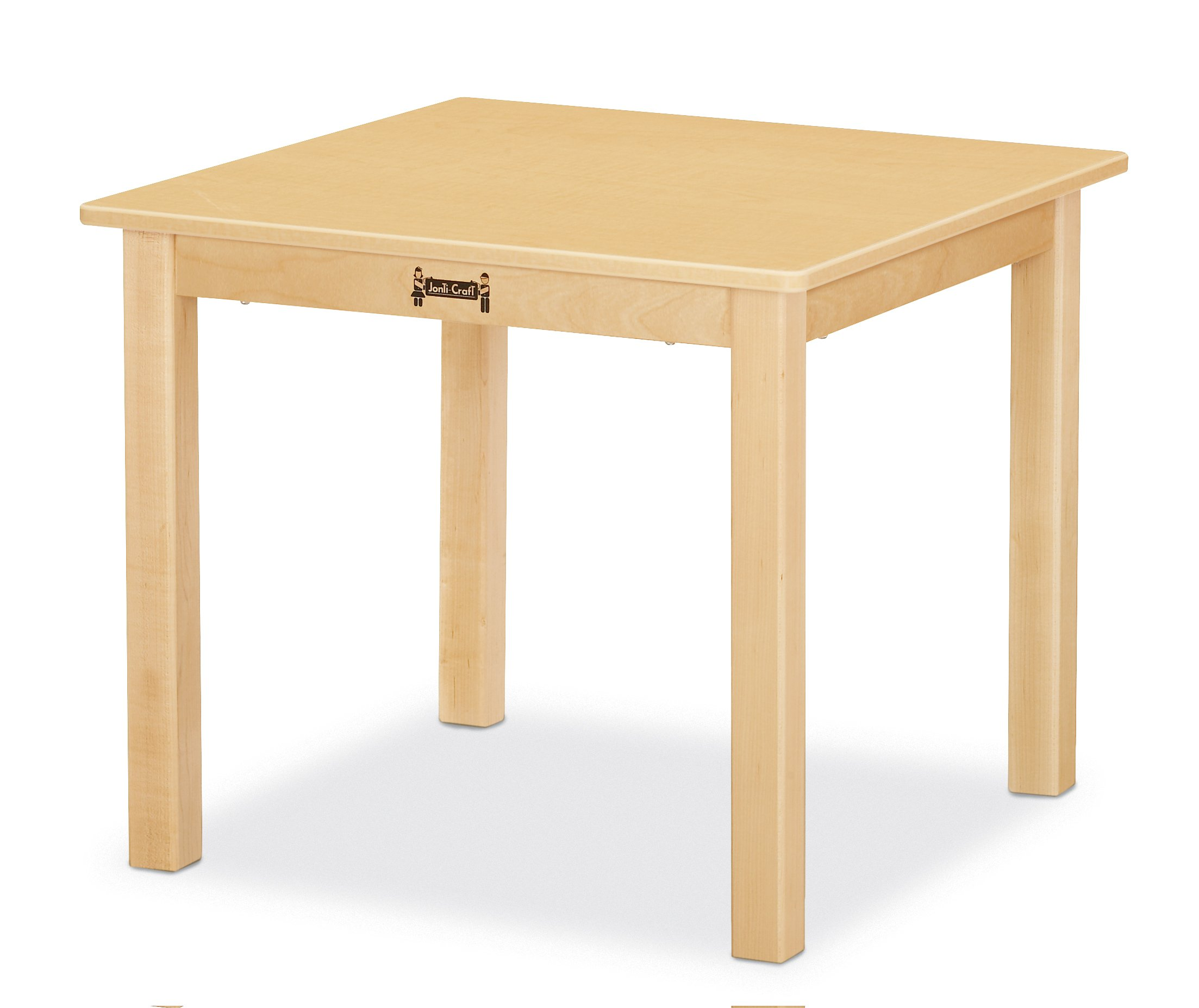 Jonti-Craft 57212JC Multi-Purpose Square Table, 12'' High, Maple