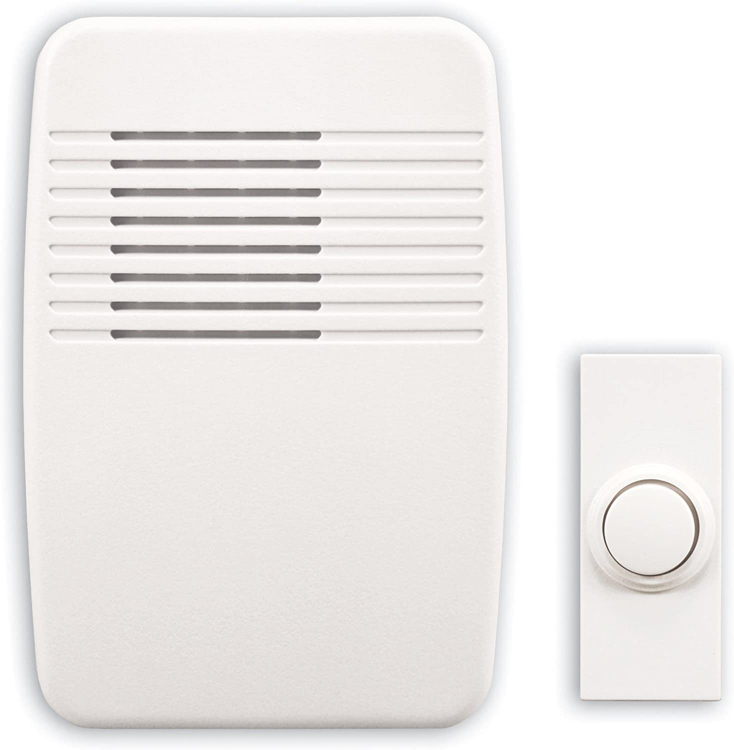 Heath/Zenith SL-7366-02 Wireless Plug-In Door Chime Kit with Molded Plastic Cover, White