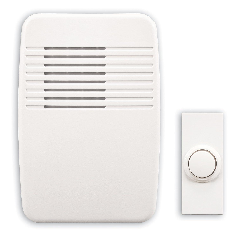Heath Zenith 35//M Wired Door Chime with Sleek Modern Design Cover White