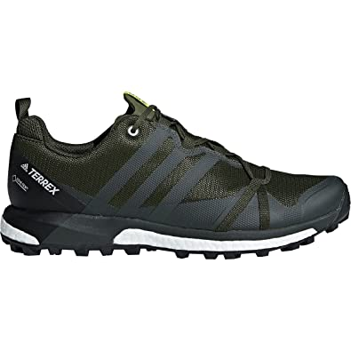 adidas outdoor Men's Terrex Agravic GTX Base Green/Base Green/Shock Yellow  11.5 D US D (M)