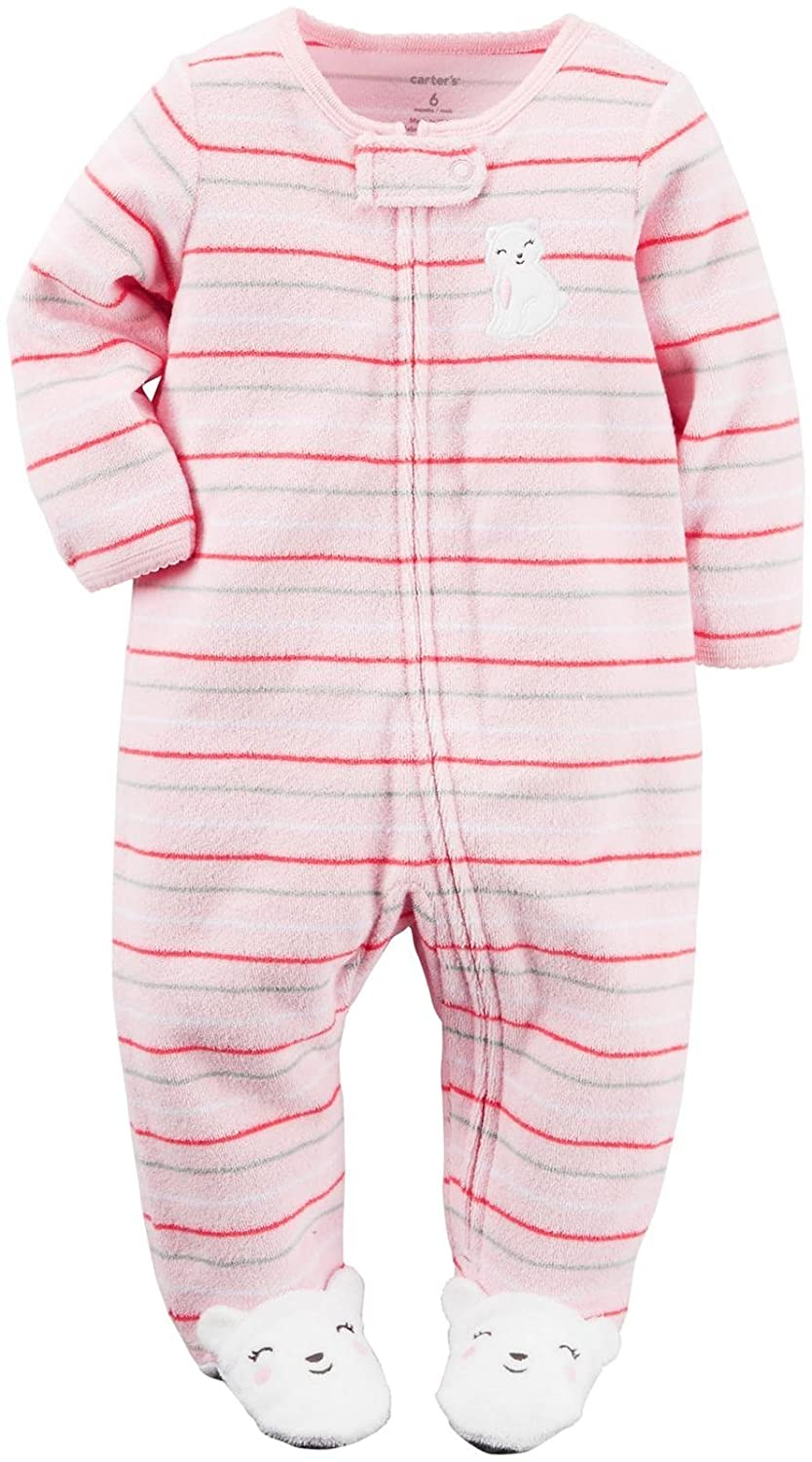 Carter's Baby Girls' Smiley Kitten Terry Coverall Carter' s