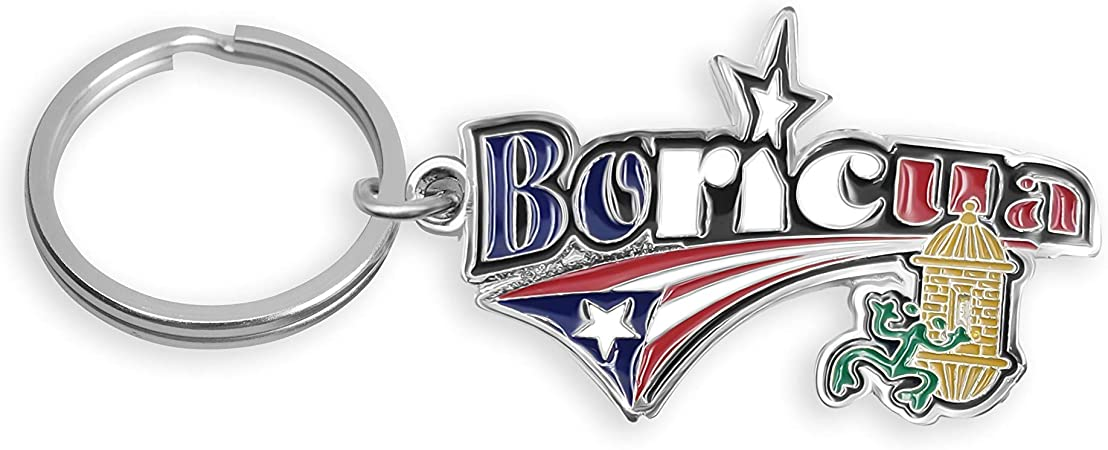 Puerto Rico Souvenirs Rican Metal key holder ring Round Coqui