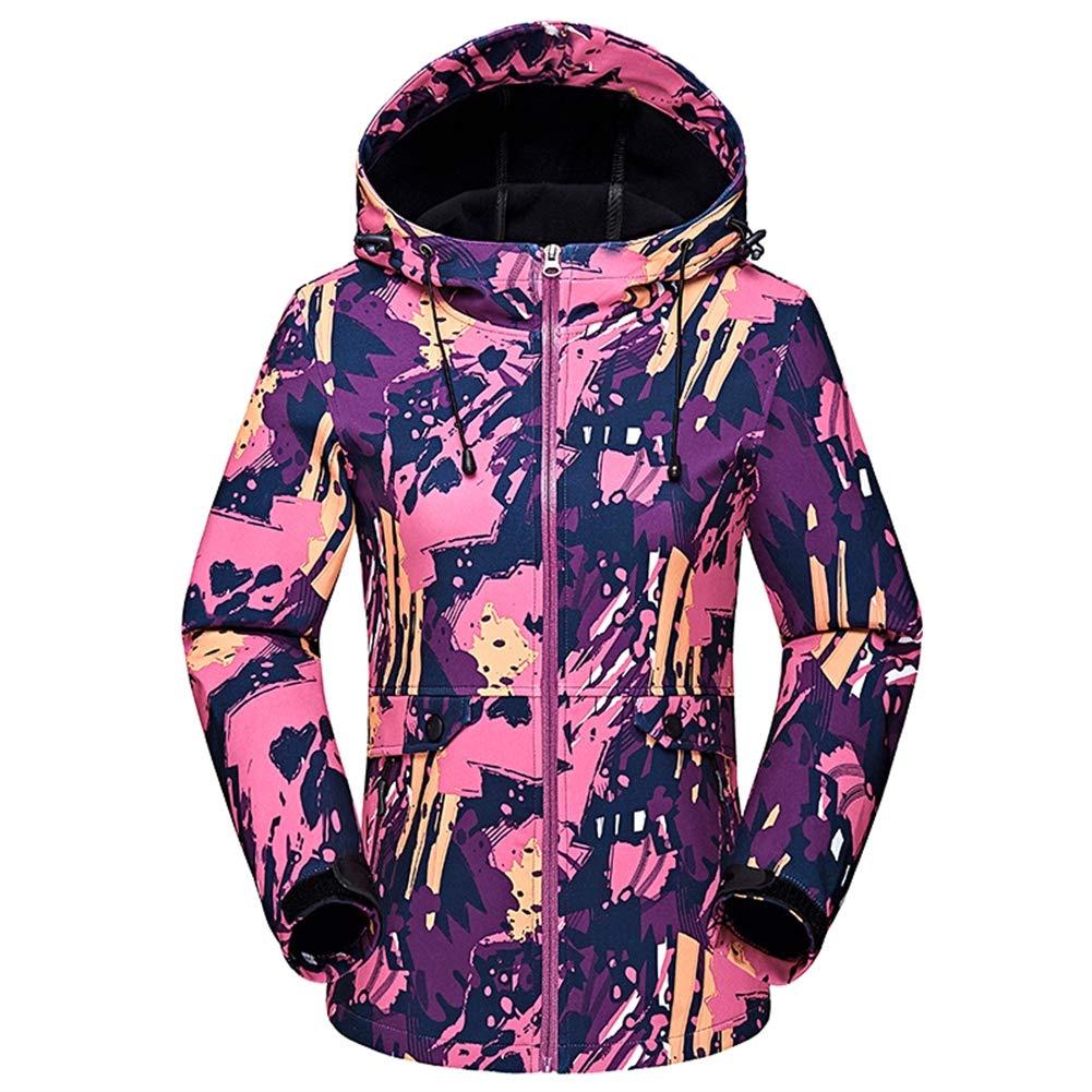 Ommda Chaqueta Softshell Trekking Mujer Invierno Softshell Camuflaje Alta Visibilidad Impermeable