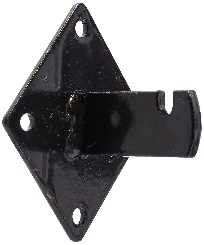 Gridwall Mount Brackets for Grid or Slatgrid Panels Box of 12 Pcs Black Color