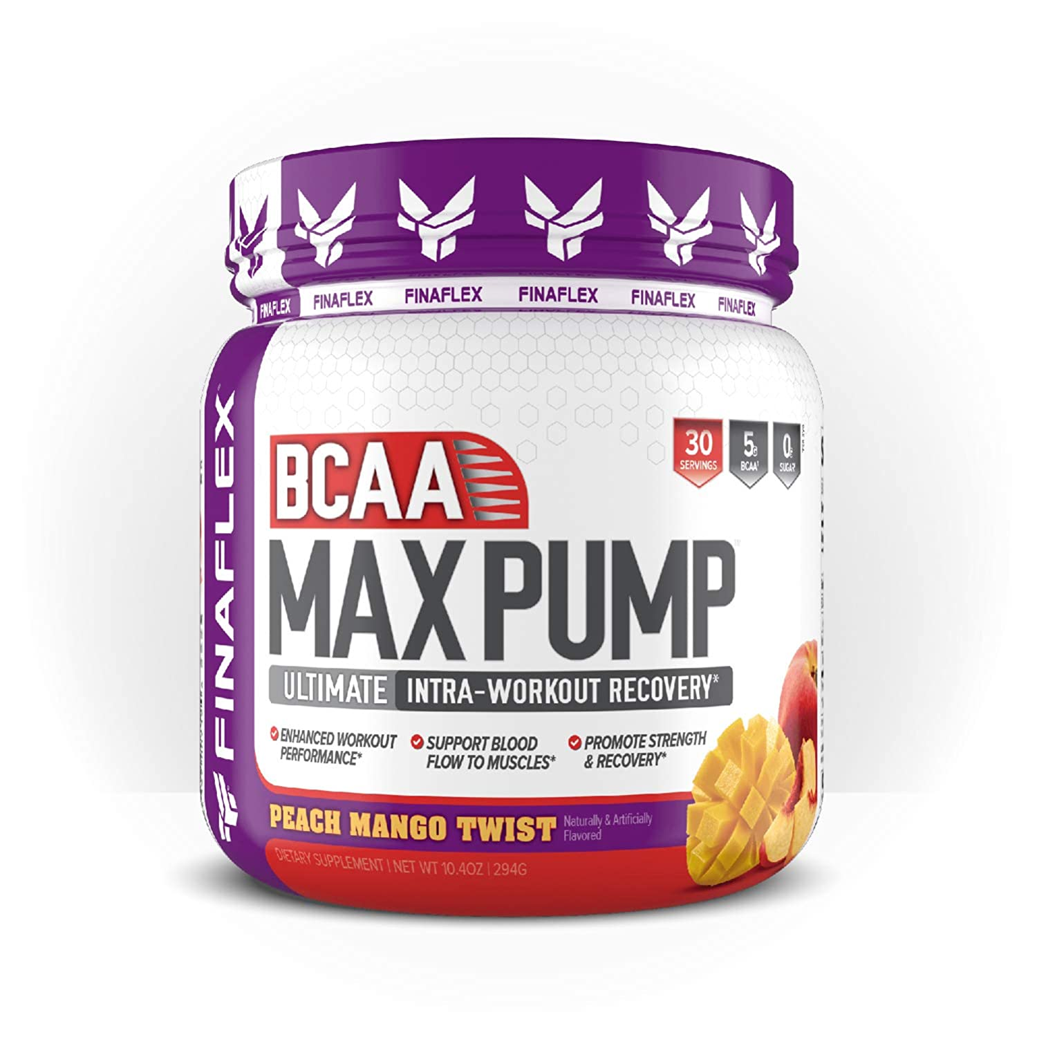 Finaflex Bcaa Max Pump Peach Mango Ultimate Intra Workout Recovery 10 Ounce, 10 Ounce