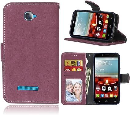 Funda Alcatel One Touch Pop C7 7041A 7040D,Bookstyle 3 Card Slot PU Cuero Cartera para TPU Silicone Case Cover(Rosa): Amazon.es: Electrónica