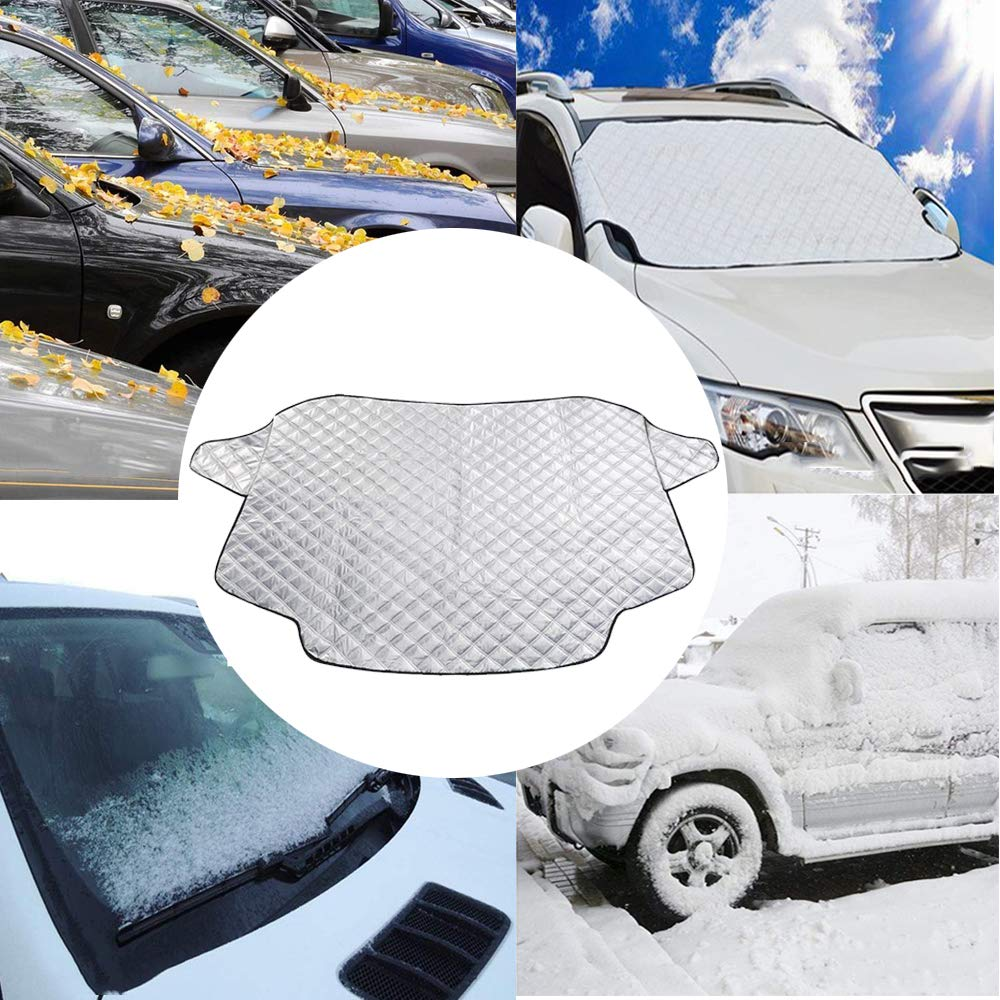 blocking snow bird excrement Blocking the heat of the sun HY-MS Car Windshield Snow Cover fallen leaves Fits Most of Car Magnetic Windshield Winter Protector