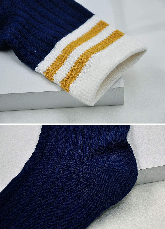 Boys /& Girls Fashion Cotton Crew Socks,Kids Toddler Seamless Dress Socks,Soft and Breathable,5 Pairs