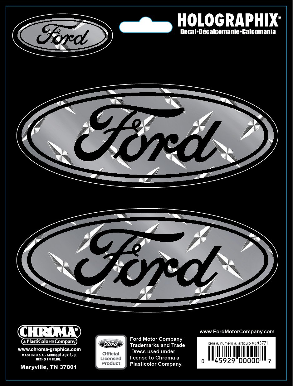 Chroma 27500 Tread Plate Ford Emblem Holographic Logo Decal