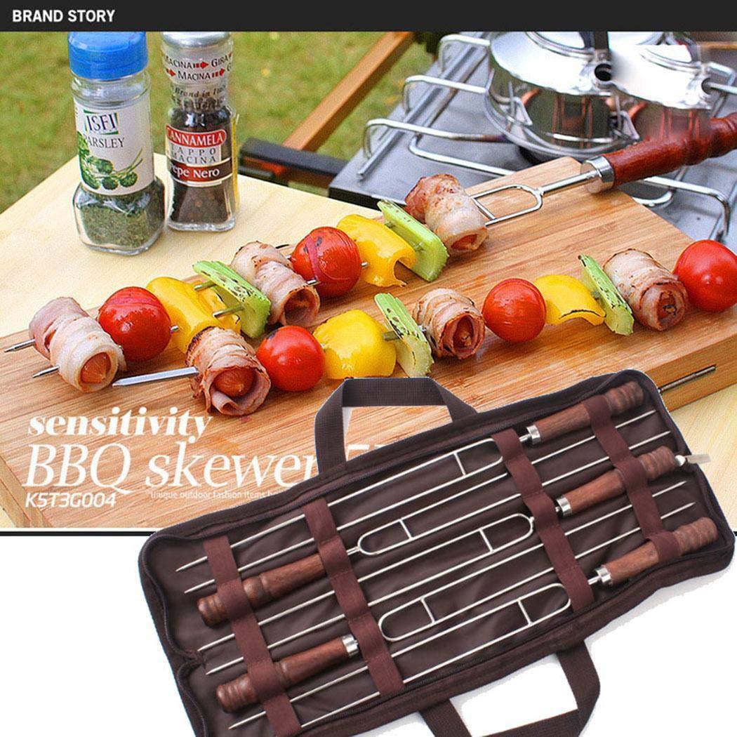 Ferita 5PCS BBQ Telescoping Forks U Shape Roasting Sticks Barbecue Tool by Ferita