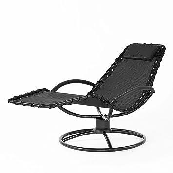 SoBuy® OGS25-Sch Chaise longue Bain de soleil Transat de jardin ...