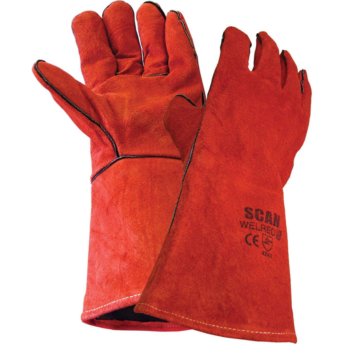 Guantes de soldador Advanced Scan par rojo [1 unidad] con Min 3 años garantía Cleva: Amazon.es: Bricolaje y herramientas