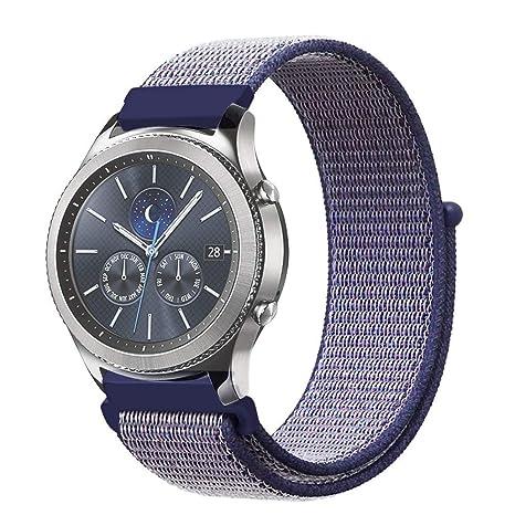 XIHAMA - Correa de Repuesto para Samsung Gear S3 Frontier y Classic, 22 mm, Nailon de Ajuste rápido, Correa Deportiva para Reloj Huawei 2 Classic ...
