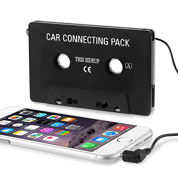 pretty nice 666ad 09aea Insten Car Cassette Tape Adapter Compatible with Note 4/Apple SE/6/6S  Plus/7/7 Plus/iPad Mini 3/iPad Air 2/Apple iPod Touch Mp3/Samsung Galaxy  S10/S10 ...