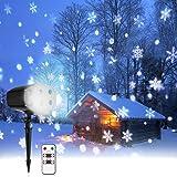 Lumière Projecteur Noël,Lampe de Projection de Chute de Neige,Projecteur  Flocon de Neige 78a4034daa01