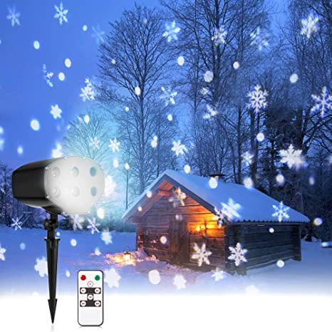 Led Christmas Lights Outdoor.Nacatin Snow Lights Projector Led Christmas Lights Outdoor Snow Falling Light Remote Ip65 Waterproof 9w 5m Distance 4 F To 90 F Xmas Halloween Party