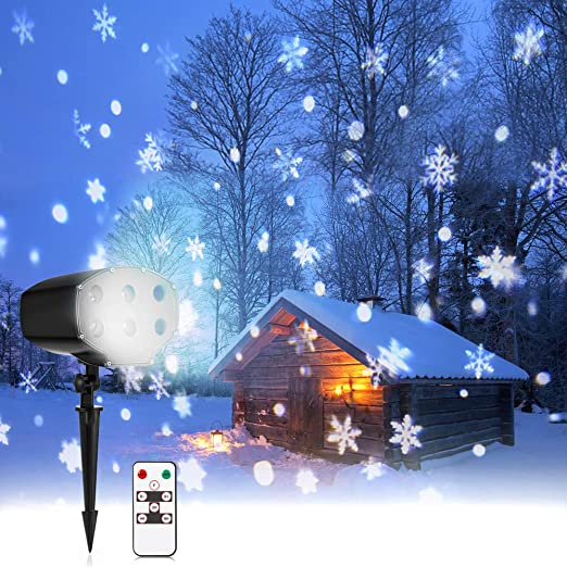 Luz de Proyección Navideña, NACATIN Luz de Nieve Proyector con ...