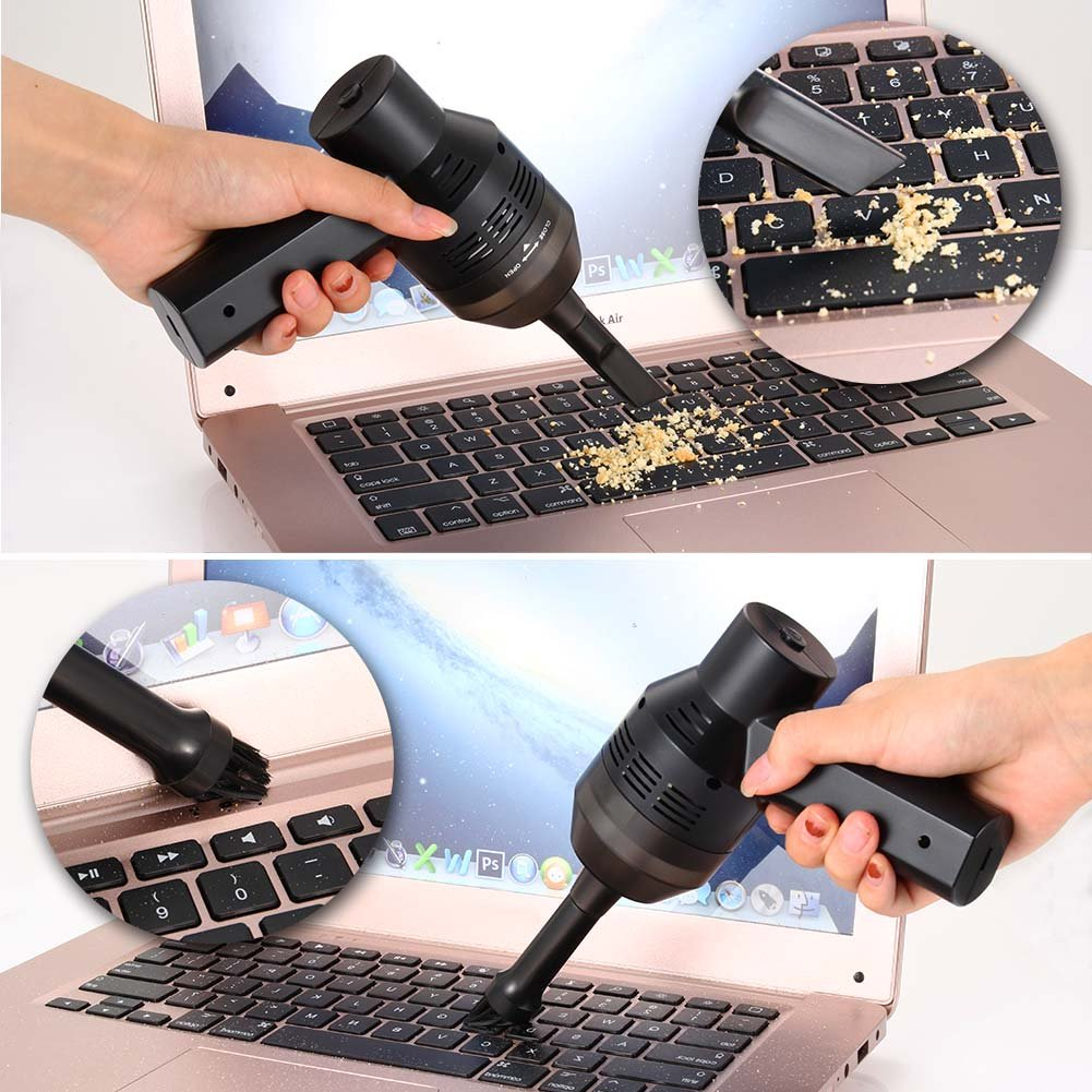 Adealink Mini USB Rechargeable Vacuum Cleaner Computer Keyboard Brush Nozzle Dust Collector Handheld Sucker Clean Kit by Adealink (Image #9)