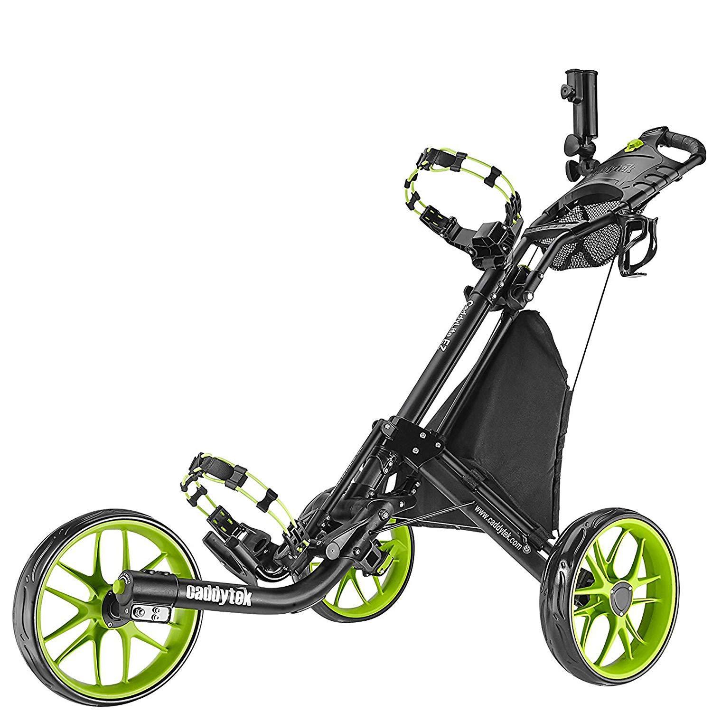 Chariot de golf EZ-Fold de CaddyTek - 3roues - Gris foncé - Avec sac de rangement product image