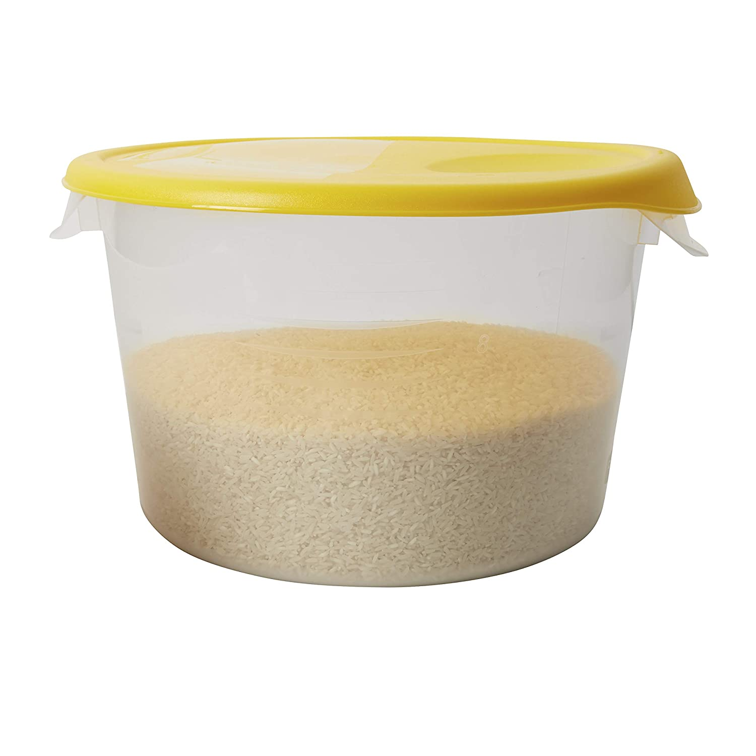 Rubbermaid Commercial Lid (Lid Only)for Round Food Storage Container, Fits 12 Qt. Containers, Yellow (FG573000YEL)