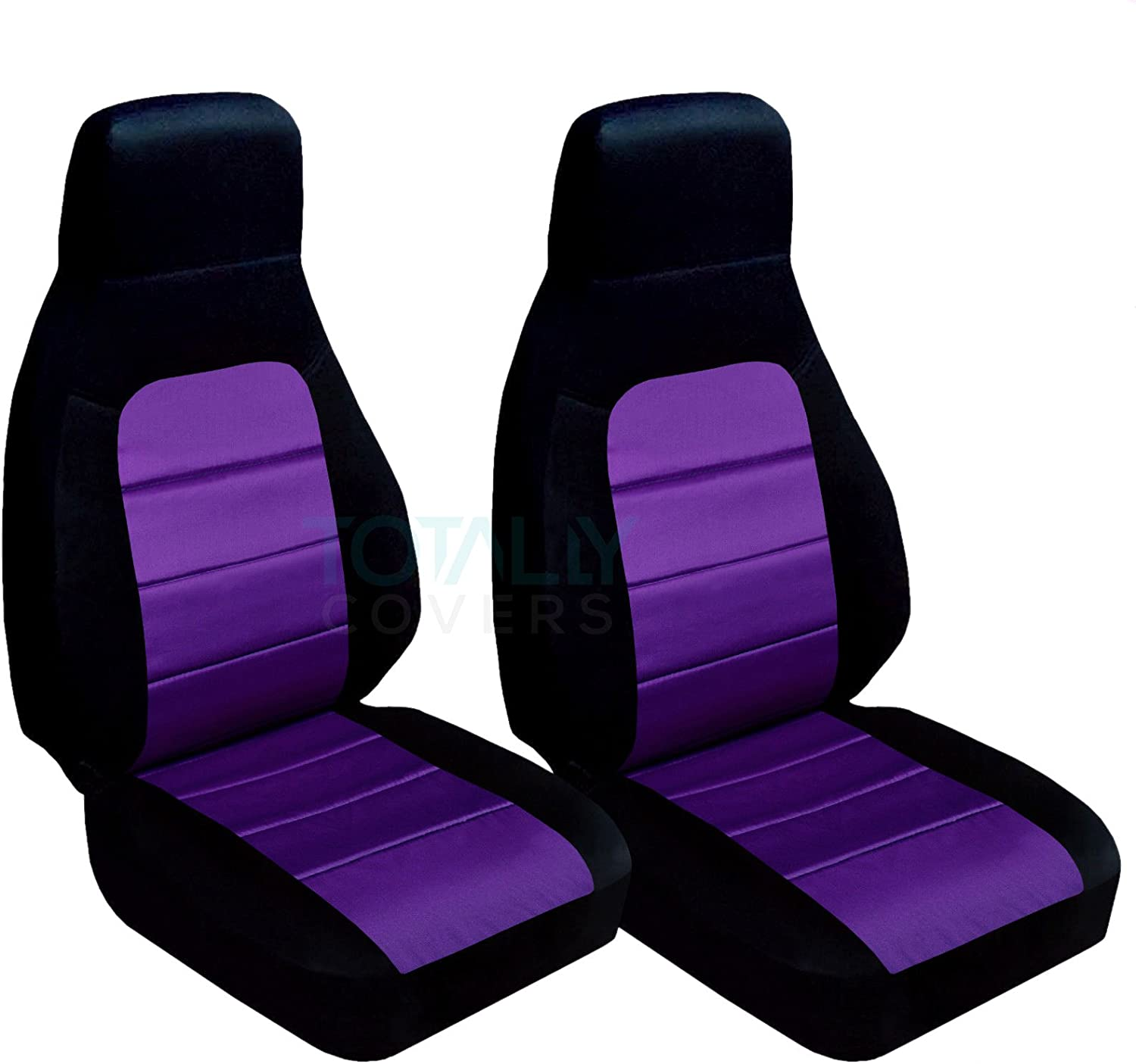 Totally Covers Compatible with 1990-2000 Mazda MX-5 Miata Seat Covers Black and Red 22 Colors Bucket