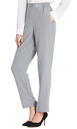 Uni Basique Pantalon Pour Femme Lilysilk 100Soie Ultra Slim cAR4j35qL