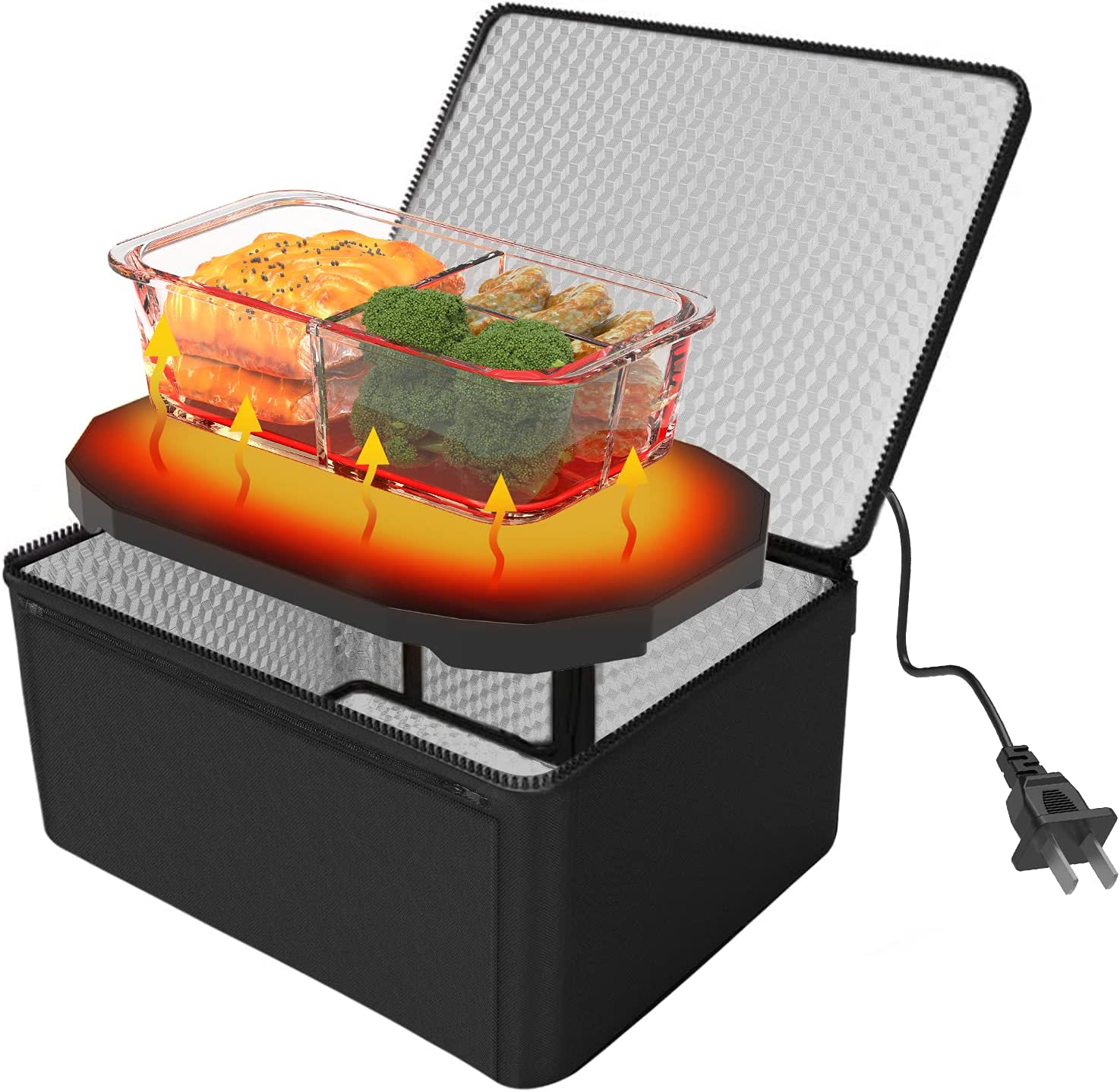 Personal Portable Oven Food Warmer - GoodFaith 110V Mini Oven Electric Heated Launch Box Food Warming Tote Meals Reheating & Frozen/Raw Food Cooking On-The-Go for Office/Dorm/Camping and more
