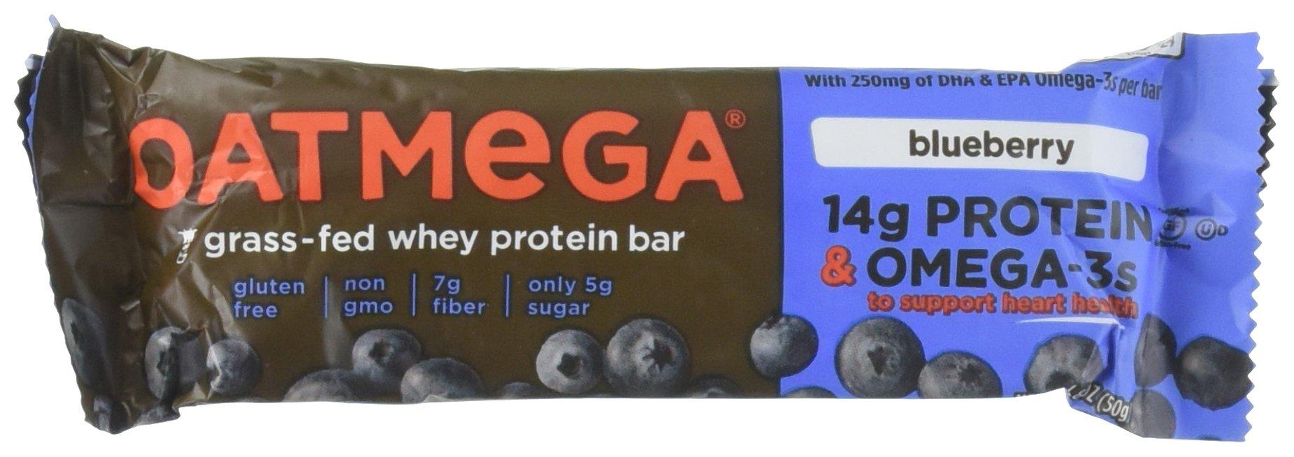 Oatmega Protein Bar, Blueberry, 1.8 Ounce, 12 Count