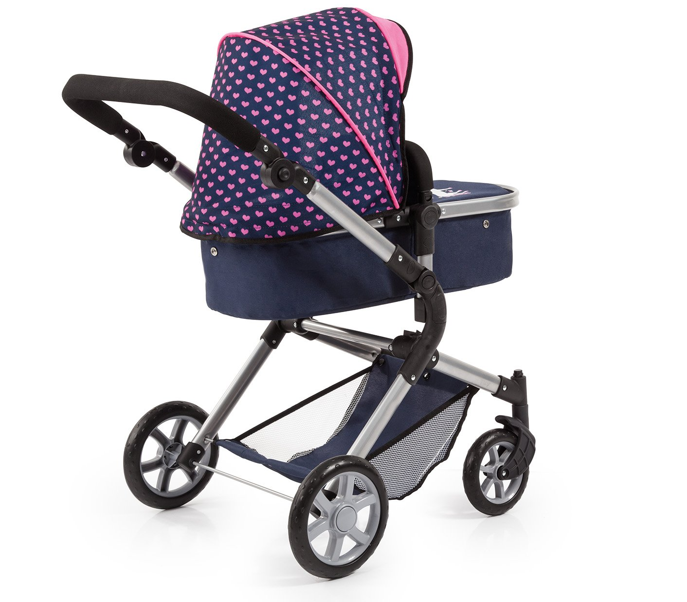 Bayer Design 18154AA City Neo Dolls Pram with Changing Bag, Blue/Pink by Bayer (Image #4)